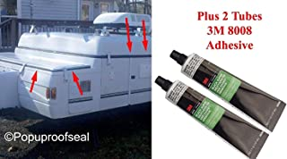 1997-2003 Coleman Fleetwood Roof Seal 41' Rubber Gasket Popup Tent Trailer Plus 3M Super Weatherstrip & 15' Storage Bin Seal