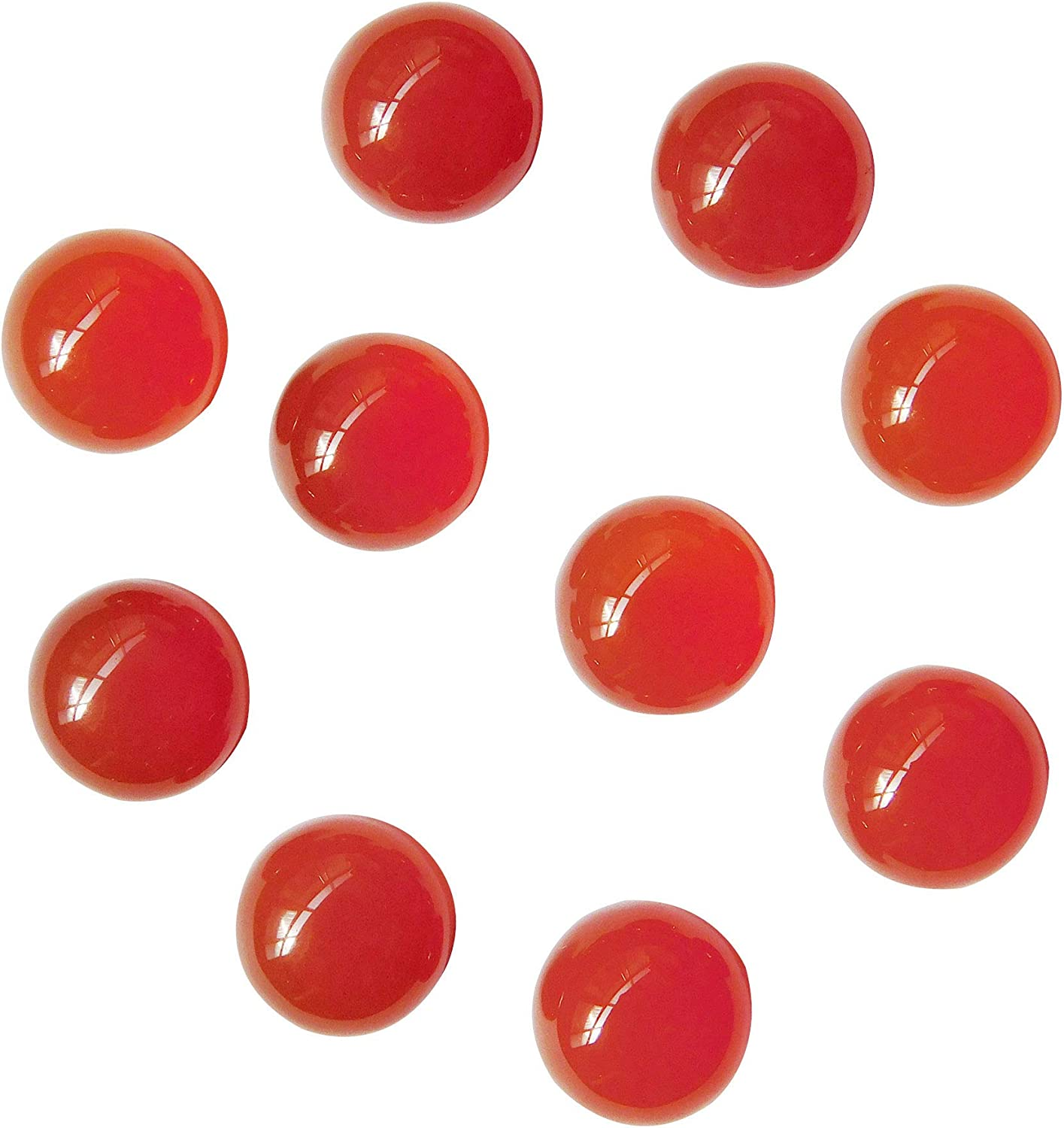 Natural Las Vegas Mall Red Onyx 6x6 mm Round Gems Loose Finally resale start Jewelry Cabochon Making