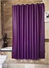 LanMeng Peva Shower Curtain Liner, Extra Long, Frosted Thicken Water-Repellent Comes with 12 Hooks (72-by-78 Inch, Purple)