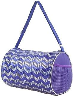 Girls Duffle Bag Chevron Sequin Choose Color