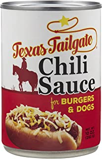 Texas Tailgate Chili Sauce for Burgers and Dogs, 10 Oz