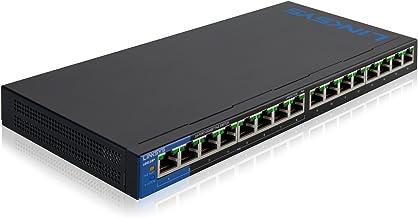 $105 Get Linksys Business 16-Port Network Switch (Unmanaged Gigabit Ethernet Switch/16-Port 8 Port PoE+ Switch)