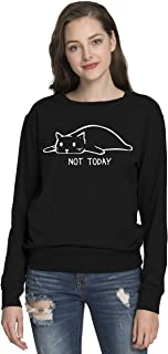 Womens Cute Letter Printed Graphic Funny Cat Tshirts and Sweatshirt and Tanks(MXT03)