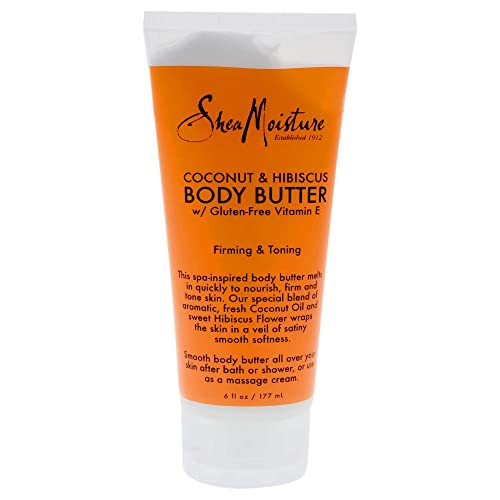 SheaMoisture Coconut & Hibiscus Body Butter, 6 Ounce