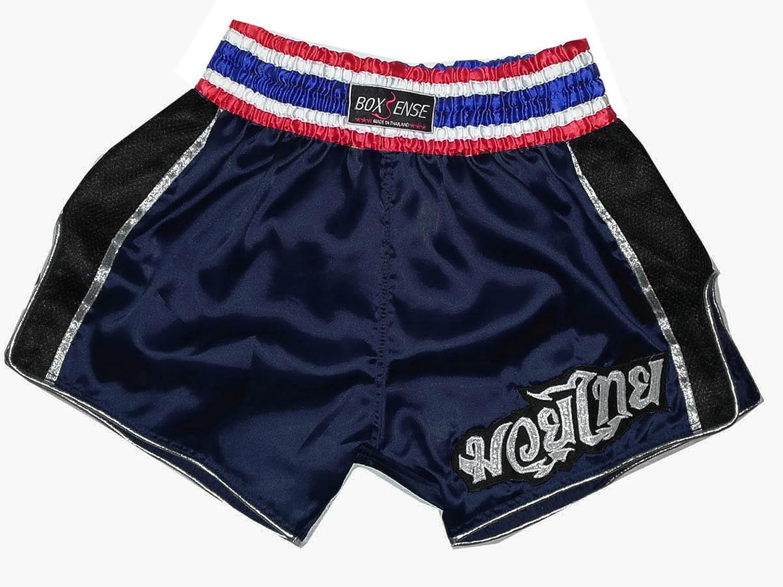 Boxsense Muay Thai Retro Boxing Boxing Boxing Hose BXSRTO-001-Navy Grosse M B00L6F9WDO  Guter weltweiter Ruf 312f63