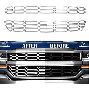 Fits 2016-2018 Chevy Silverado 1500 Main Upper Stainless Billet Grille Insert