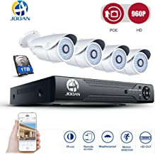 JOOAN TC-703NVR POE 4CH NVR 960P HD Security IP Camera System Surveillance Network Camera System Night Vision - with 1TB Hard Drive
