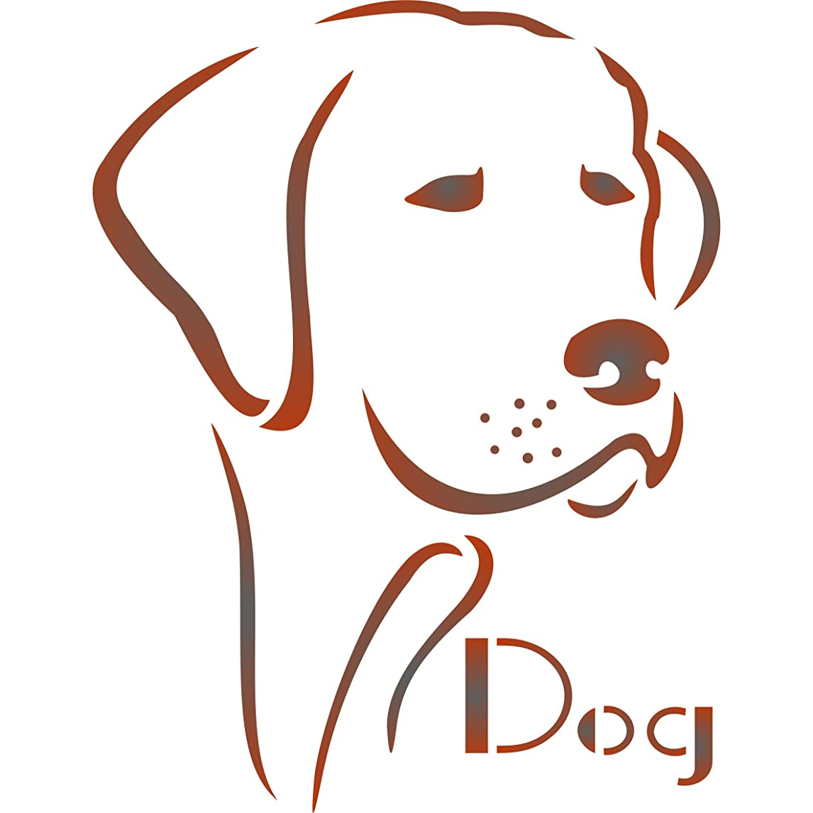 """Dog Stencil - (size 6.5""""w x 8.5""""h) Reusable Dog Stencils for Painting - Best Quality Dog Stencils for Walls - Use on Walls, Floors, Fabrics, Glass, Wood, Terracotta, and More… yssuu77337511845"""