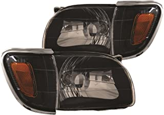Anzo USA 121190 Toyota Tacoma Black With Amber Reflectors Headlight Assembly - (Sold in Pairs)