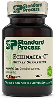 Standard Process Echinacea-C - Whole Food Blood and Immune Support with Vitamin C, Echinacea Purpurea, and Buckwheat - 90 ...