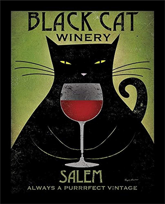 Buyartforless Classic IF WAP 25191 14x11 1.25 Lowest price challenge Framed Sa Black Cat Winery
