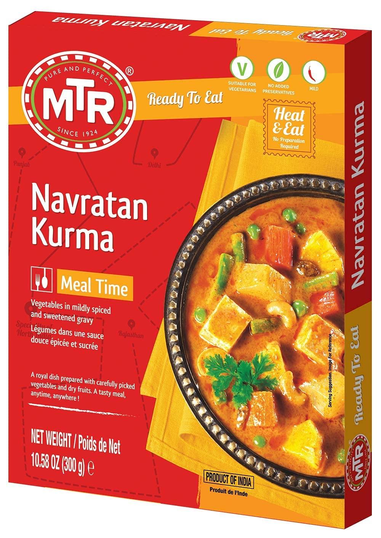 MTR Ready to Eat Combo of Navratan Max 66% OFF Alu Pack 1 Kurma Department store Methi