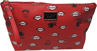 Betsey Johnson Cosmetic Case Wrislet Red One Size