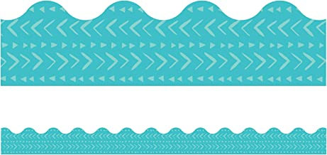 One World Blue Batik Scalloped Borders