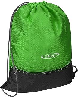 Bolsa con Cordón Bolsa de Cuerda de Fitness Mochila Escolar Bolsa de PE Natación Deportes Mujeres Hombres Niños Niña Versión Actualizada al Aire Libre