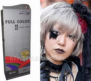 Premium Permanent Hair Colour Cream Dye Punk Goth 0/11 Silver Ash Grey GRAY by Starlist