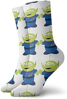 Hongfago, Calcetines de moda para adultos unisex calcetines casuales cálidos calcetines deportivos calcetines gruesos clásicos Alienlittle Green Man Toy Story