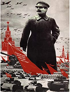 Wee Blue Coo Political Propaganda Army Stalin Kremlin Soviet Union Vintage Unframed Wall Art Print Poster Home Decor Premium