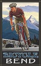 لوحة Northwest Art Mall Bend Oregon Downhill Biker من تصميم Paul A Lanquist، 27.94 سم × 43.18 سم