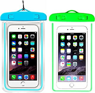 (2Pack) Waterproof Case, Universal IPX8 Phone Pouch Underwater Phone Case Bag Neck Strap Compatible with iPhone XR X XS MAX/8/8+/7/7+,Galaxy S9/S8/S8+/Note 8,Google Pixel/LGup to 6.5