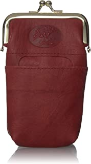 Buxton Funda de piel para mujer con bolsillo para encendedor