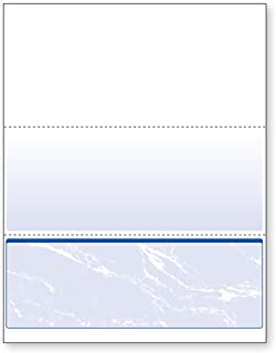 DocuGard Standard Blue Marble Bottom Check, 24 Pound, 8.5 x 11 Inches, 500 Sheets (04517)