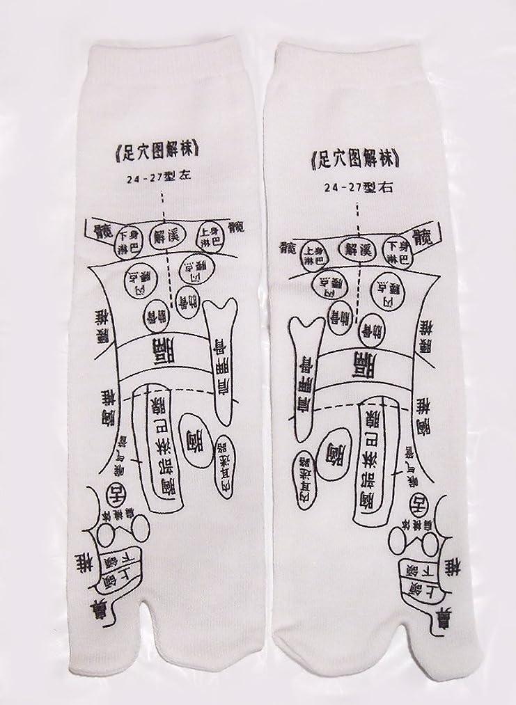 ペチコート作ります深く足っほ靴下 足裏つぼ靴下 足ツボソックス 反射区 プリント くつした ツボ押しやすい 22~26センチ 字は中国語