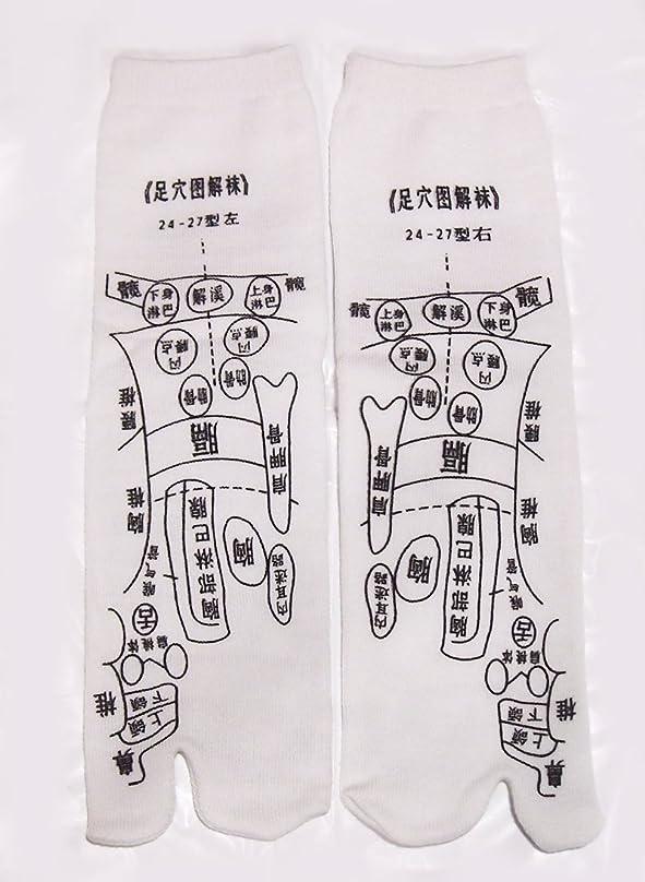 過半数配る二度足っほ靴下 足裏つぼ靴下 足ツボソックス 反射区 プリント くつした ツボ押しやすい 22~26センチ 字は中国語