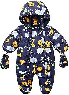 Tengoait Baby Girls Boys' Cotton Romper Unisex Baby Winterproof Snowsuit Winter Fashion Coat Zip Up Jacket Long Sleeve Cut...