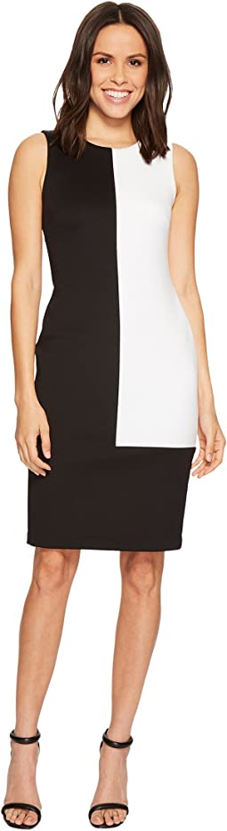 Calvin Klein - Color Block Scuba Sheath Dress CD8M16GH