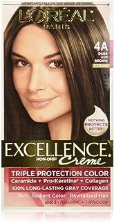 L'Oreal Paris Excellence Creme Haircolor, Dark Ash Brown [4A] (Cooler) 1 ea (Pack of 2)