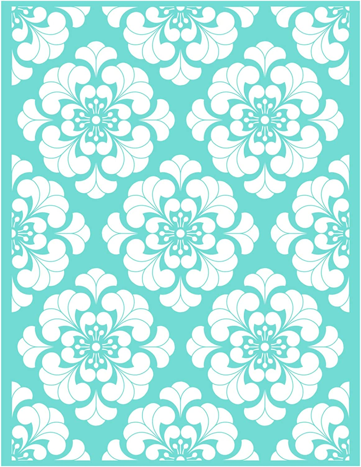 Self-Adhesive Reusable Sign Stencils for DIY Painting on Wood Clothes Fabric Decoration 14PCS YeulionCraft Mandala Florals Elements Silk Screen Printing Stencil