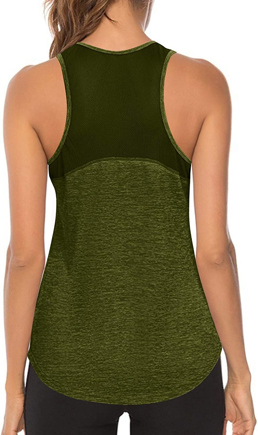 AODONG Workout Tank Tops for Women,Womens Summer Mesh Athletic Sports Yoga Casual Loose Shirts Sleeveless Blouses Tops