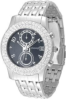 Moog Paris Heritage Women's Watch with Black Dial, Silver Stainless Steel Strap & Swarovski Elements - M45554-003