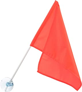 SEACHOICE 78301 Heavy-Duty Nylon Orange Ski Flag 12-Inch x 18-Inch with 24-Inch Pole