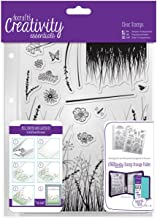 DOCrafts DCE907113 Creativity Essentials A5 Clear Stamp Set (15 Pack), Meadow