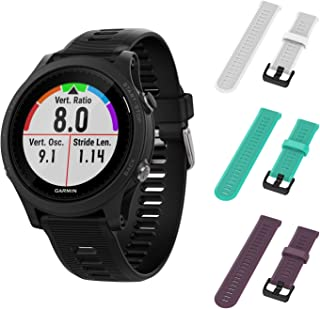 Garmin Forerunner 945 GPS Running Smartwatch with Included Wearable4U 3 Straps Bundle (White/Teal/Purple)