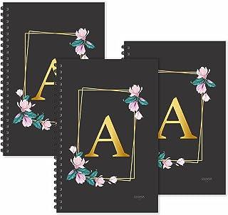 ESCAPER A letter Diaries (Ruled - A5 - SUPER SAVER Pack of 3 Diaries)   A initial Diaries   A alphabet Diaries