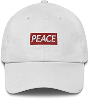 Peace Bogo Made in USA Dad Cap Cotton Hat - Box Logo Supreme Inspired