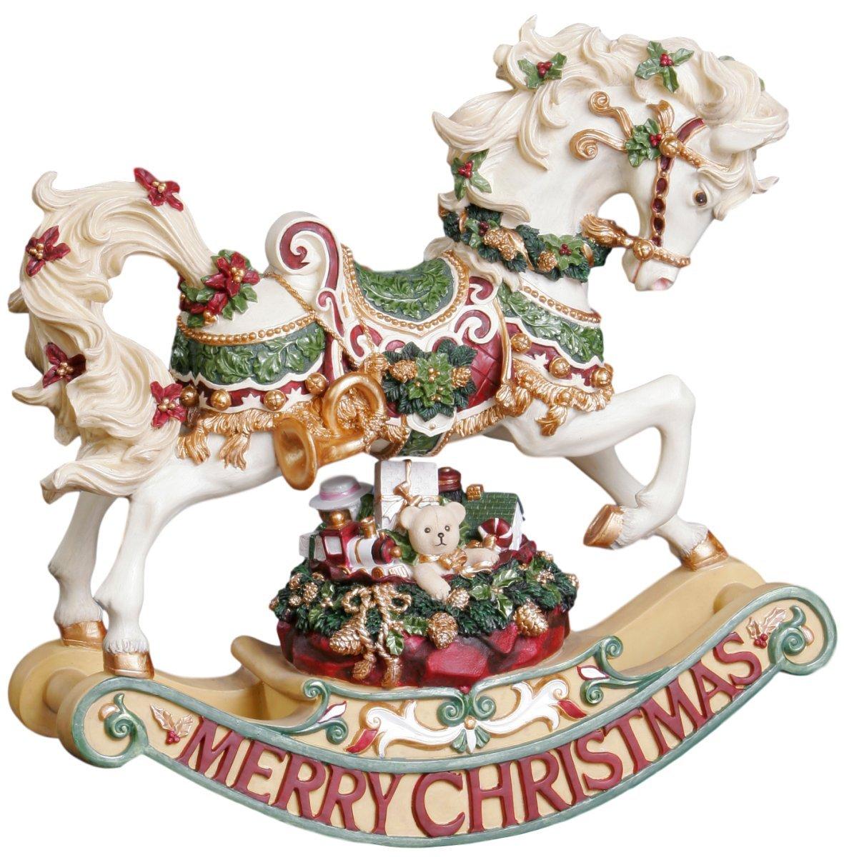 Image of A Christmas Favorite: Rocking Horse Musical Christmas Figurine