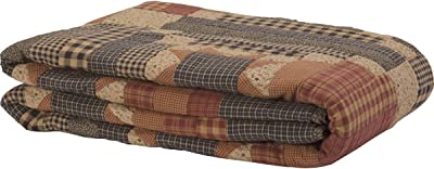 VHC Brands Classic Country Primitive Bedding-Maisie Quilt, Queen, Natural Tan