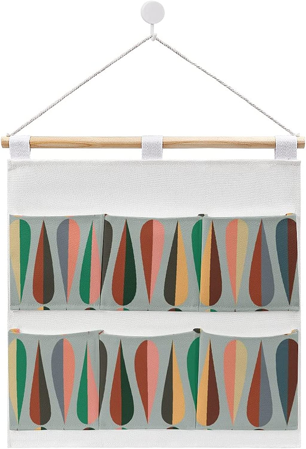 Modern Style Retro Pattern Hanging Finally NEW before selling resale start cotton linen storage and bag