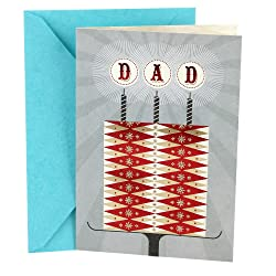 Hallmark Birthday Greeting Card to Father (Cake and Candles)