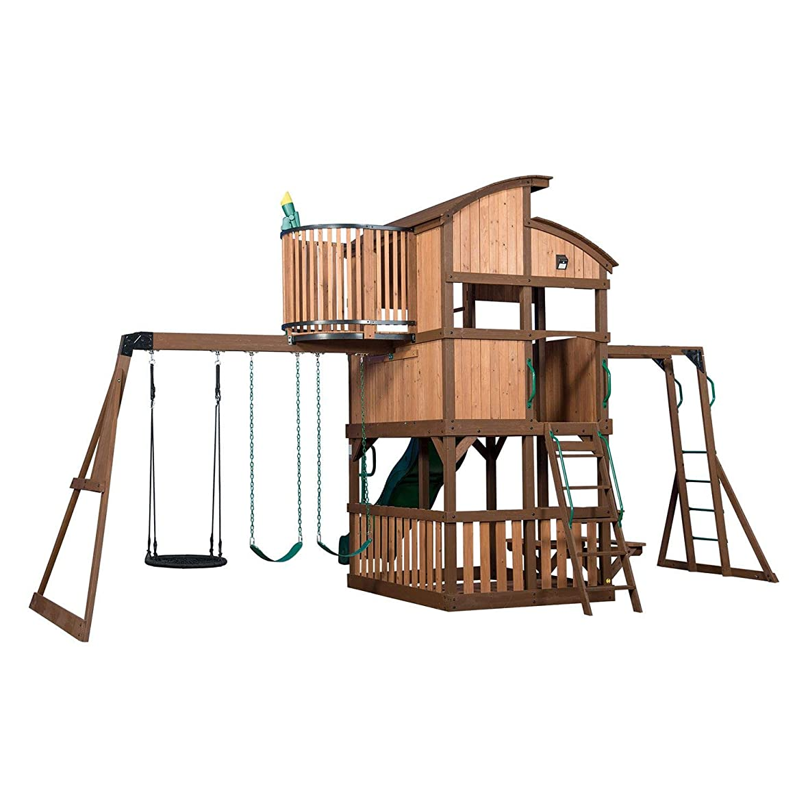毎日刺繍走るCedar Park at Home スイングセット Forts Slide Club House クライミングツリー モンキー バー