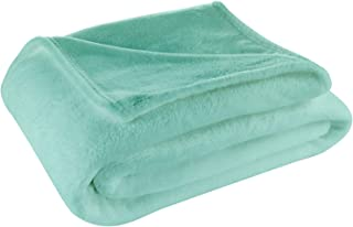 Cosy House Collection Full/Queen Size Fleece Blanket – All Season, Lightweight & Plush Hypoallergenic - Microfiber Blankets for Bed, Couch or Travel - Turquoise