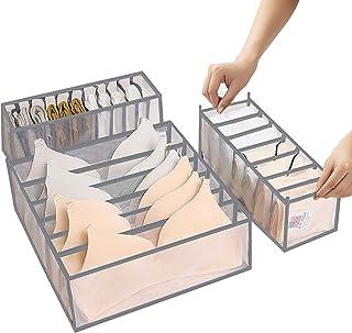ABClife 3 Pièces Organisateur De Tiroir sous VêTements,Organisateurs d'armoires de Placard et Boîtes de Rangement Lavable ...