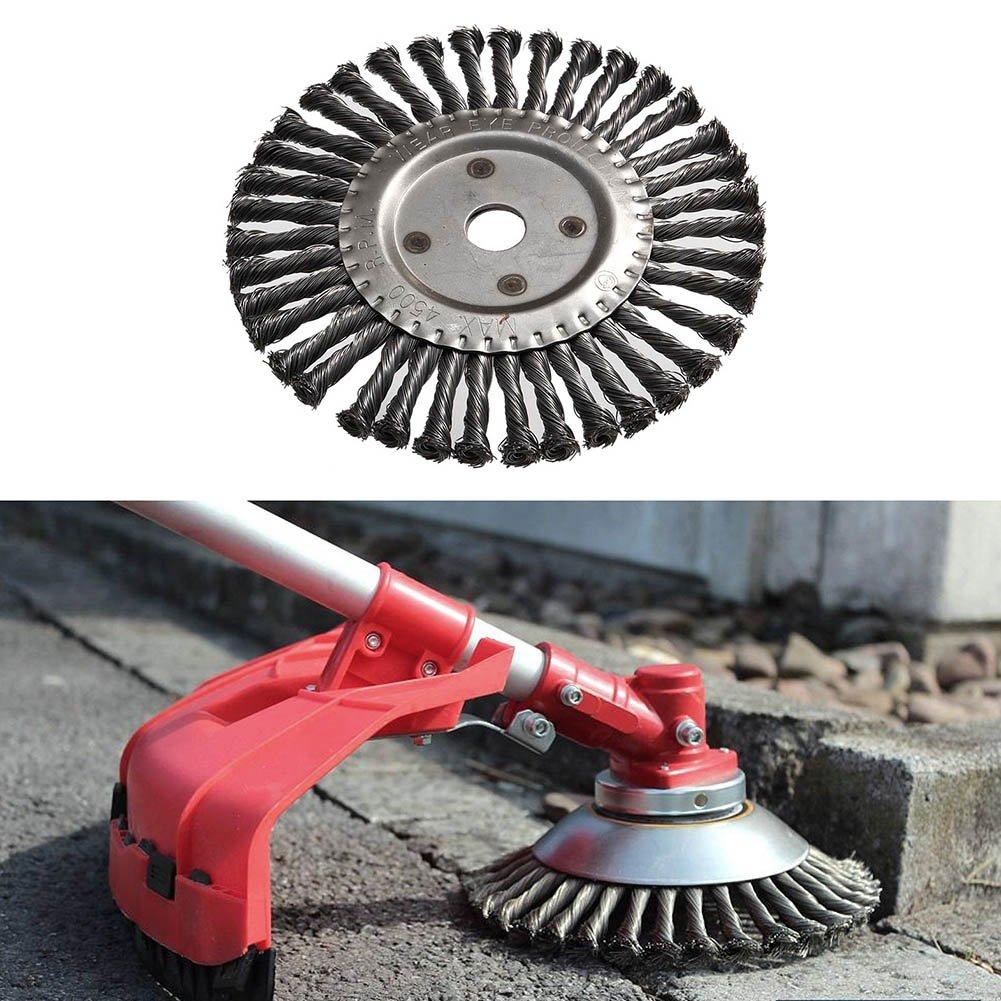 Wodeni Twist Wire Wheel - Cepillo Redondo (200 mm): Amazon.es: Hogar