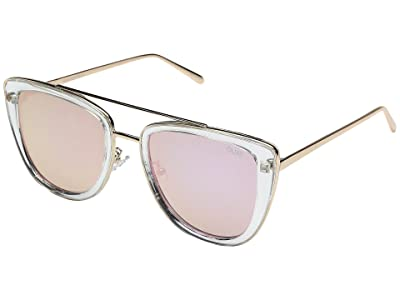 QUAY AUSTRALIA French Kiss (Clear/Rose) Fashion Sunglasses