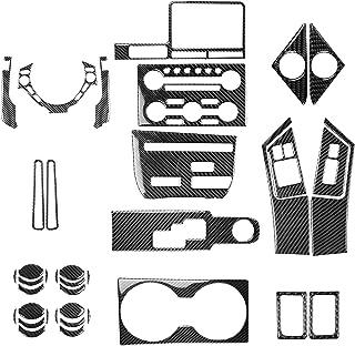 NCUIXZH Adesivos internos de fibra de carbono Volante Velocímetro CD Gear Shift Air Vent Car Acessórios para automóveis , ...