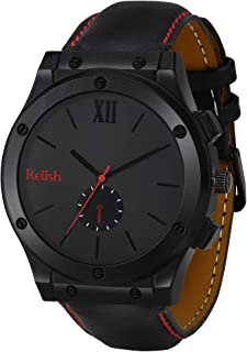 Relish Analogue Men's Watch ( Black Dial & Strap )